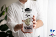 Nope. Not Today. Sloth Motivational Water Bottle | 34oz