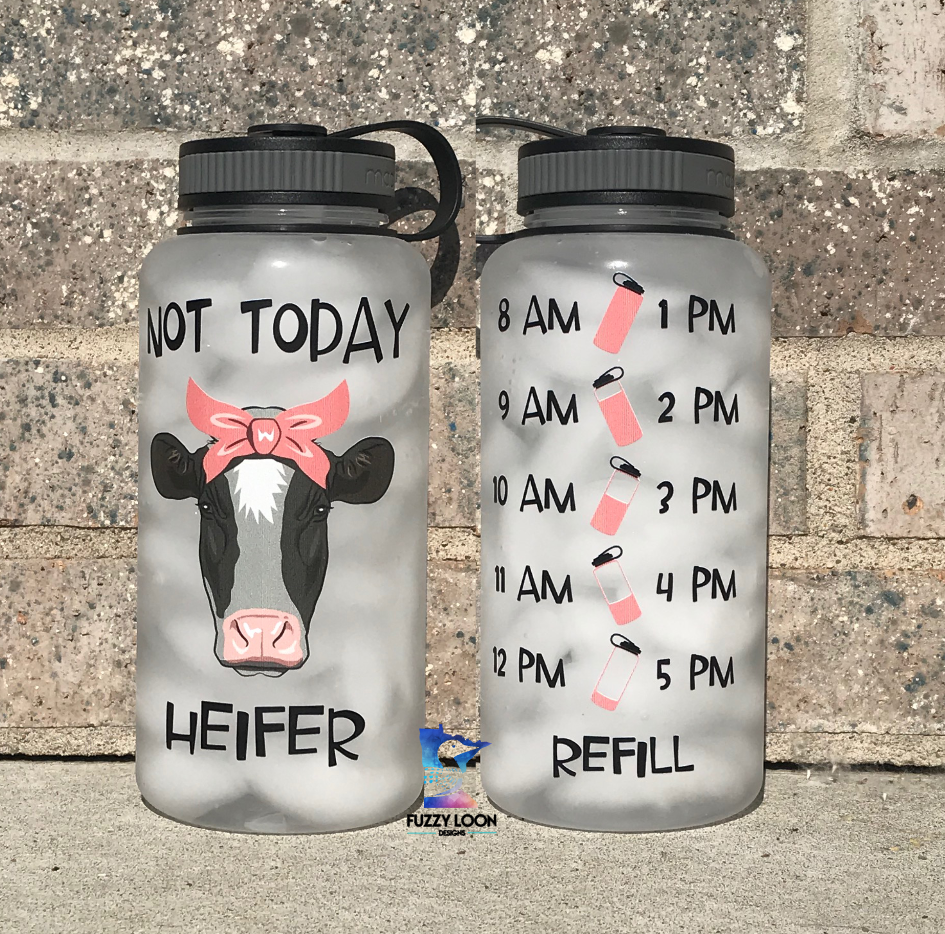 Not Today Heifer Water Bottle | 34oz