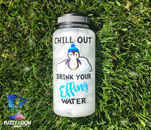 Motivational Penguin Water Bottle | 34oz