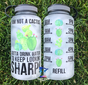 I'm Not A Cactus Motivational Water Bottle | 34oz