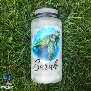 Personalized Sea Turtle 34oz Water Bottle