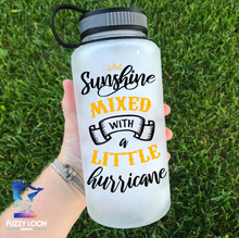 Sunshine Mixed With Hurricane Water Bottle