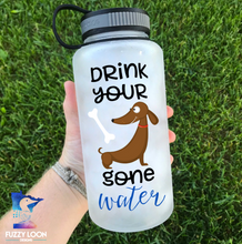 "Drink Your Dog Gone Water ""Dachshund""  Water Bottle 