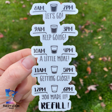 Water Bottle Tracker Decal | Motivational Water Bottle Sticker