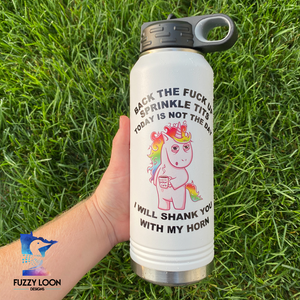 Vulgar Unicorn | 32oz Insulated Bottle with Straw and Spout