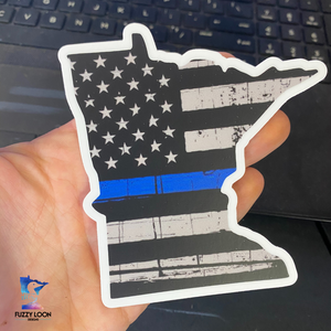 Thin Blue Line Minnesota Sticker