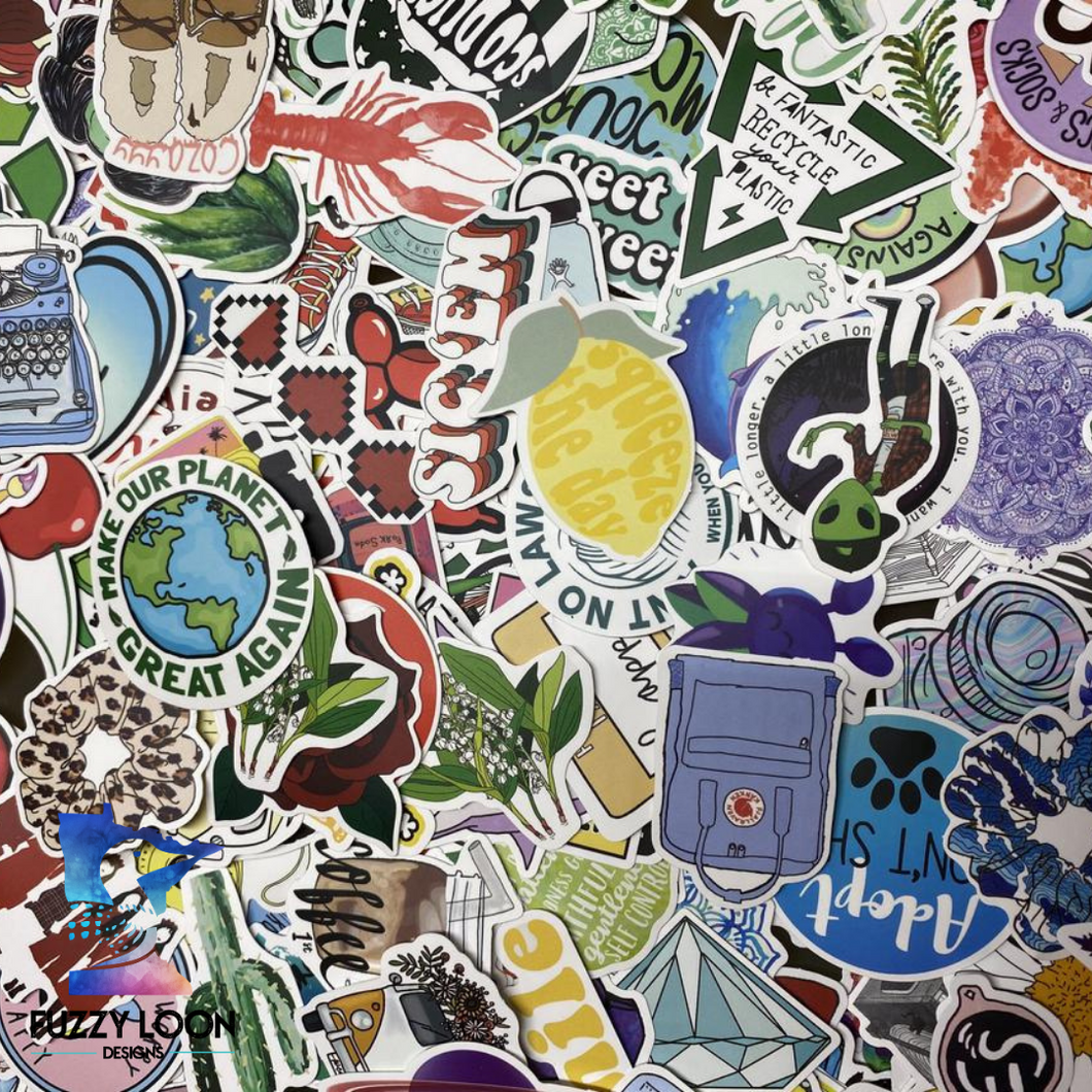 Sticker Packs Aesthetic | Randomly Selected | Adult and Kid Stickers