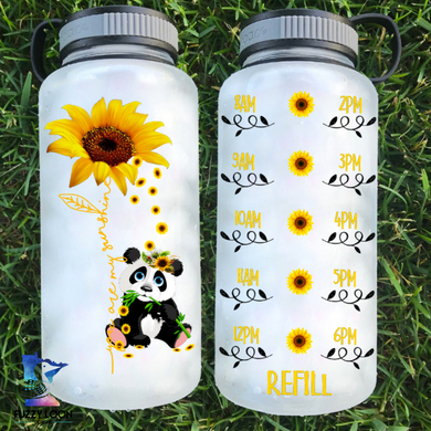 You Are My Sunshine Panda Water Bottle | 34oz