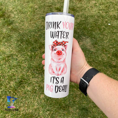 It's a Pig Deal Skinny Metal Tumbler | 20oz