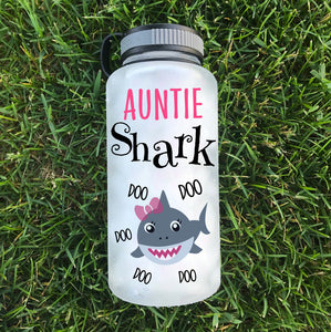 Auntie Shark Water Bottle | 34oz