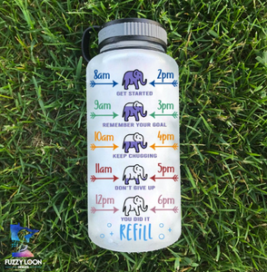 Life is Beautiful Elephant Water Bottle | 34oz