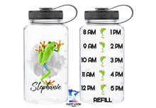 Personalized Frog Water Bottle | 34oz