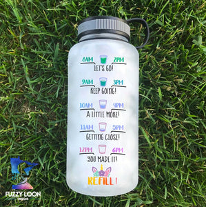 Nice Butt Unicorn Water Bottle | 34oz