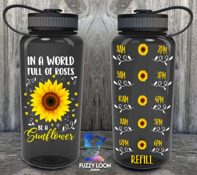 Be a Sunflower Water Bottle | 34oz