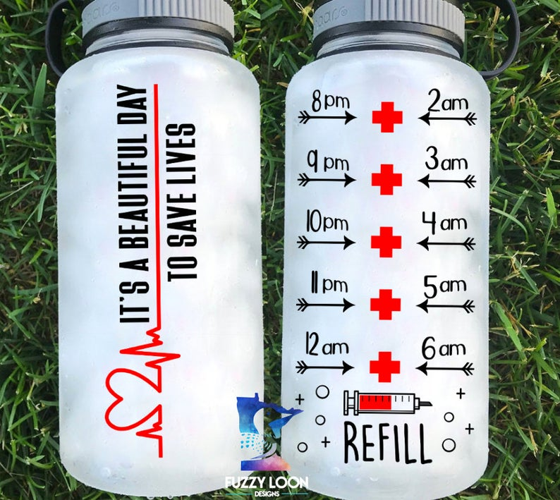 Beautiful Day to Save Lives Nurse Water Bottle | 34 oz