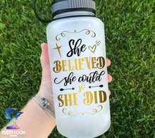She Believed She Could Water Bottle | 34oz