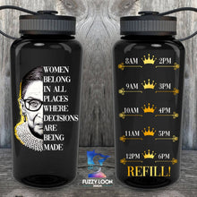 Women Belong in All Places Water Bottle | 34oz