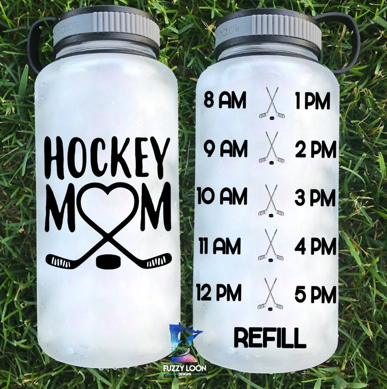 Hockey Mom Water Bottle | 34oz