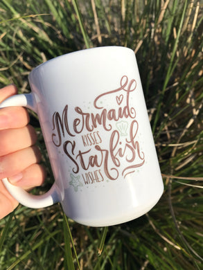 Mermaid Kisses Starfish Wishes Coffee Mug