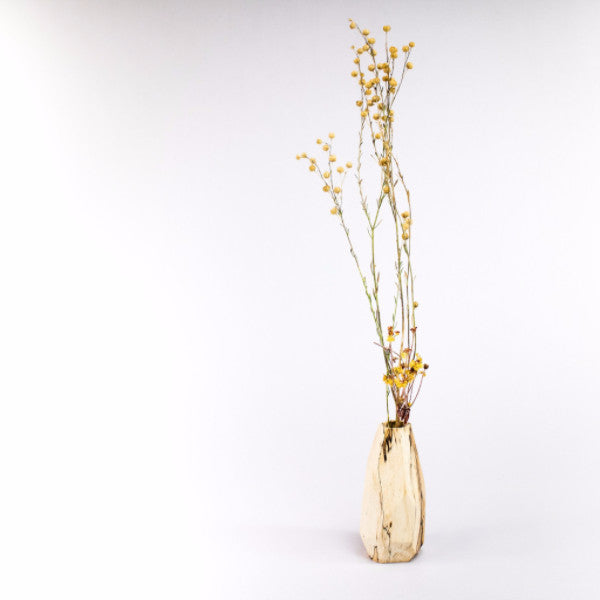 Spalted Tamarind Wood Faceted Bud Vase