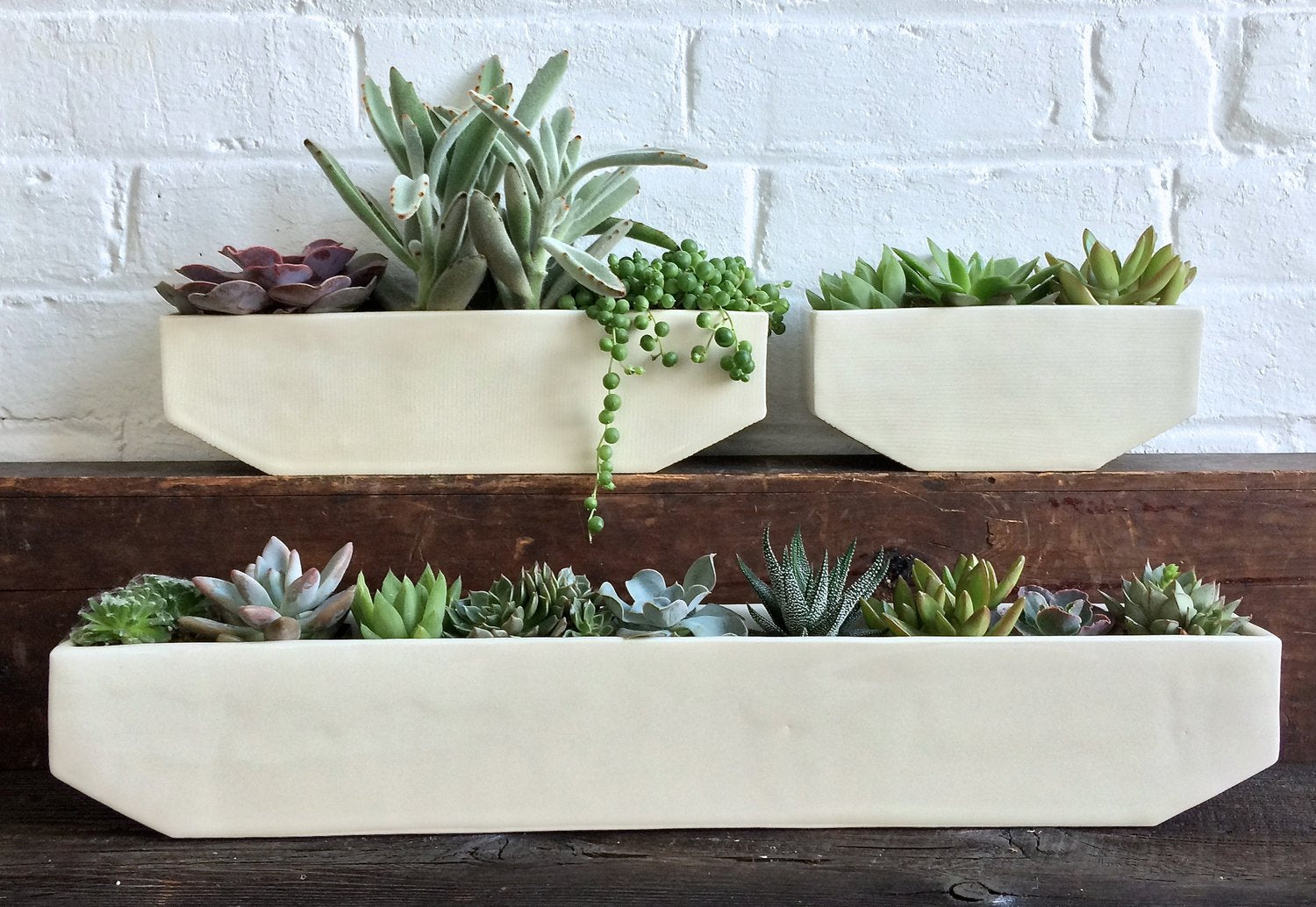 Medium Linear Ceramic Planter