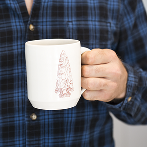 Ceramic Mug With Arrowhead