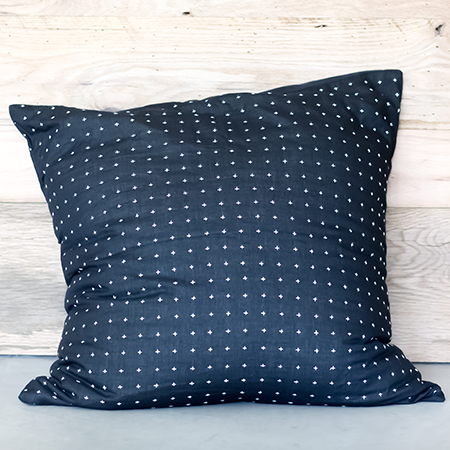 Black Cross Euro Pillow Cover