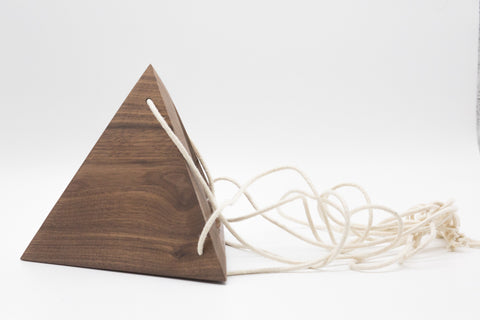 Geometric Hanging Planter - Walnut