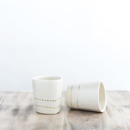 Tumbler with Lurch lines Print (Set of 2)