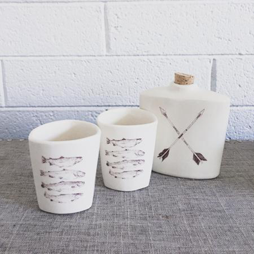 Arrows Flask & Tumblers Set