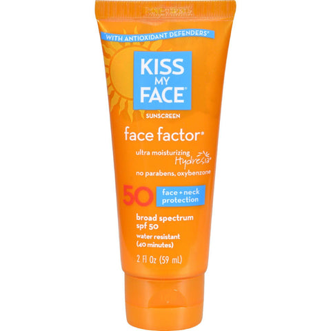 Kiss My Face Sunscreen Face Factor Spf 50 - 2 Fl Oz