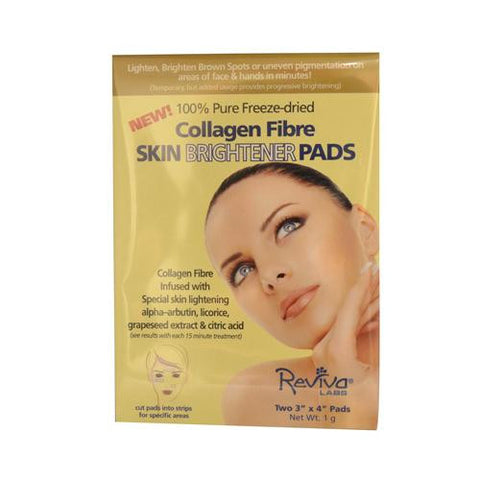 Reviva Labs Collagen Fiber Skin Brightener Pads 3 Inches X 4 Inches - Case Of 6 - 2 Packs