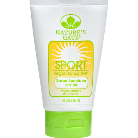 Nature's Gate Sport Block Sunblock Fragrance-free Spf 50 - 4 Fl Oz