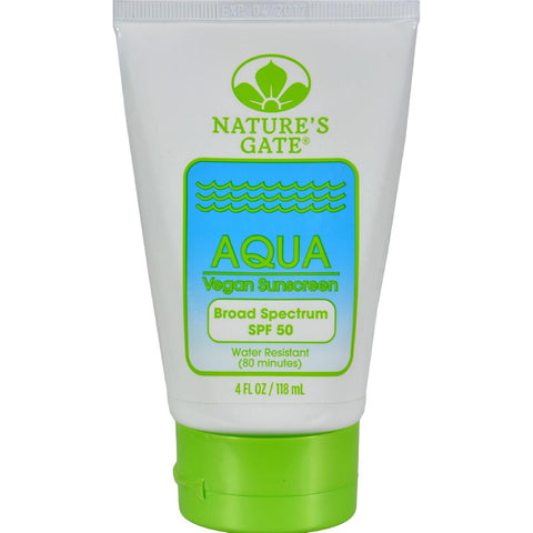 Nature's Gate Aqua Block Sunscreen Spf 50 Fragrance Free - 4 Fl Oz