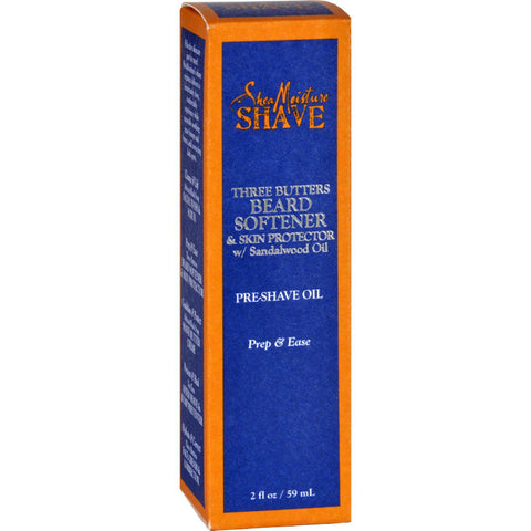 Sheamoisture Pre-shave Oil - Beard Softener And Skin Protector - Three Butters - Men - 2 Oz