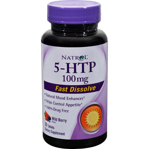 Natrol 5-htp Fast Dissolve Wild Berry - 100 Mg - 30 Tablets