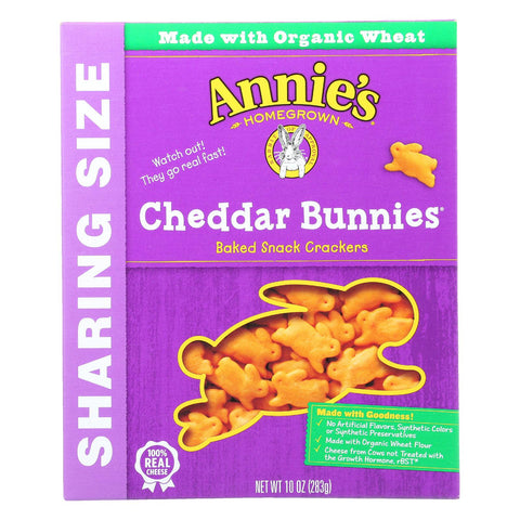 Annie's Homegrown Cheddar Bunnies - Case Of 12 - 10 Oz.