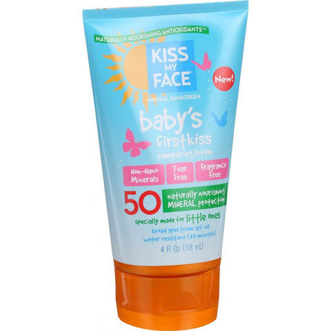Kiss My Face Sunscreen - Mineral - Lotion - Babys First Kiss - Spf 50 - 4 Oz