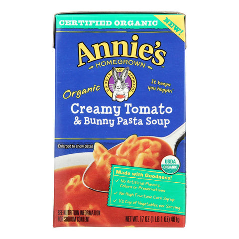 Annie's Homegrown Organic Creamy Tomato And Bunny Pasta Soup - Case Of 8 - 17 Oz.
