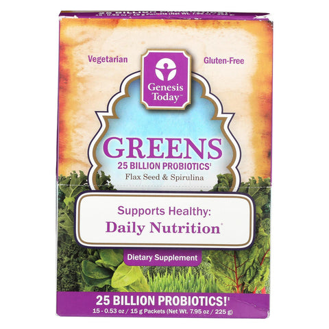 Genesis Today Greens - Case Of 1 - 0.53 Oz.
