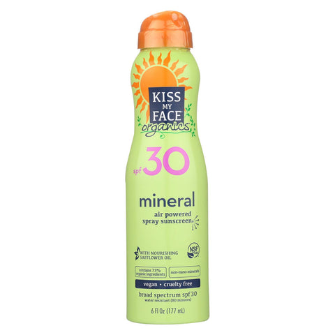 Kiss My Face Mineral Spray - Spf 30 - 6 Fl Oz