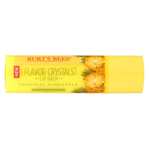Burts Bees Lip Balm - Flavor Crystals - Tropical Pineapple - 12 Count