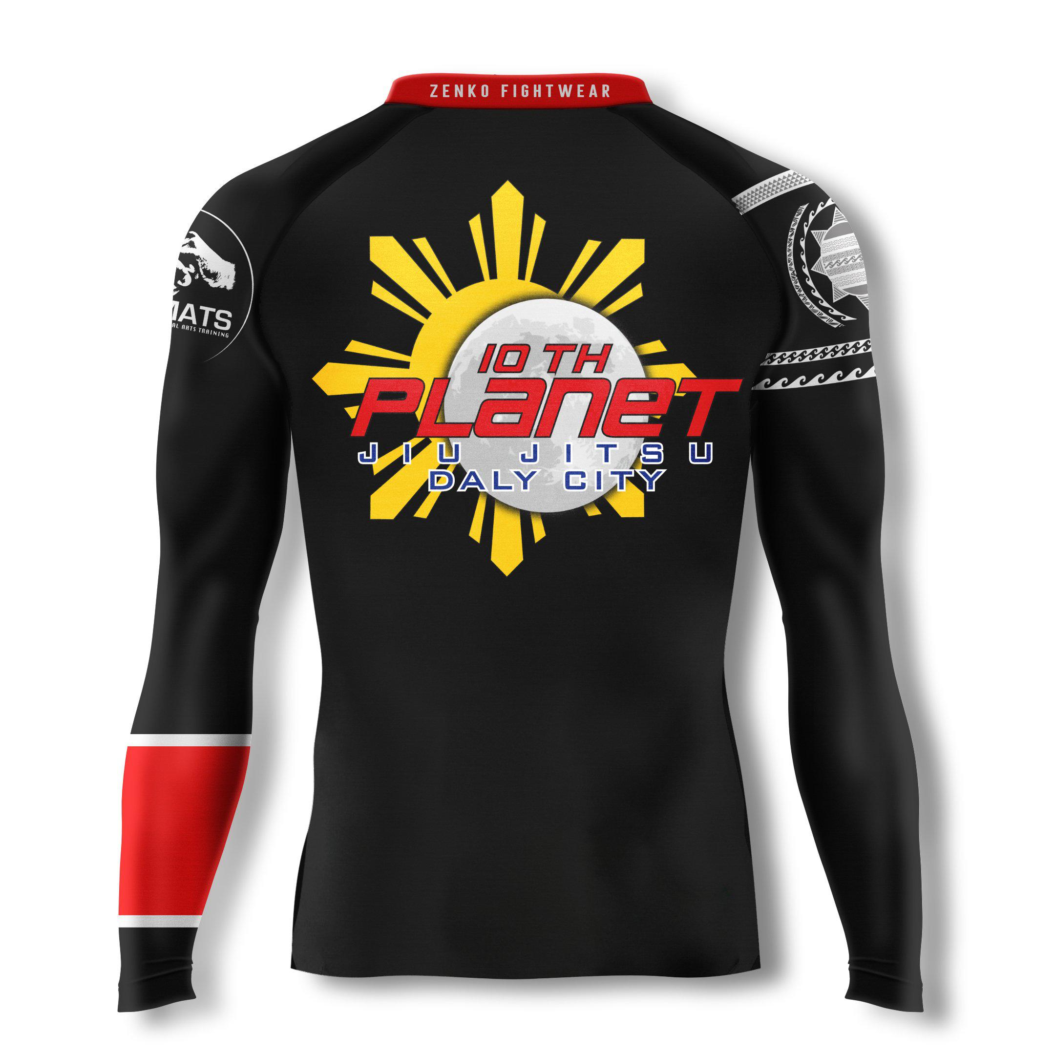 10th Planet Daly City 10PDC Ranked Rashguard (Black) - Zenko Fightwear