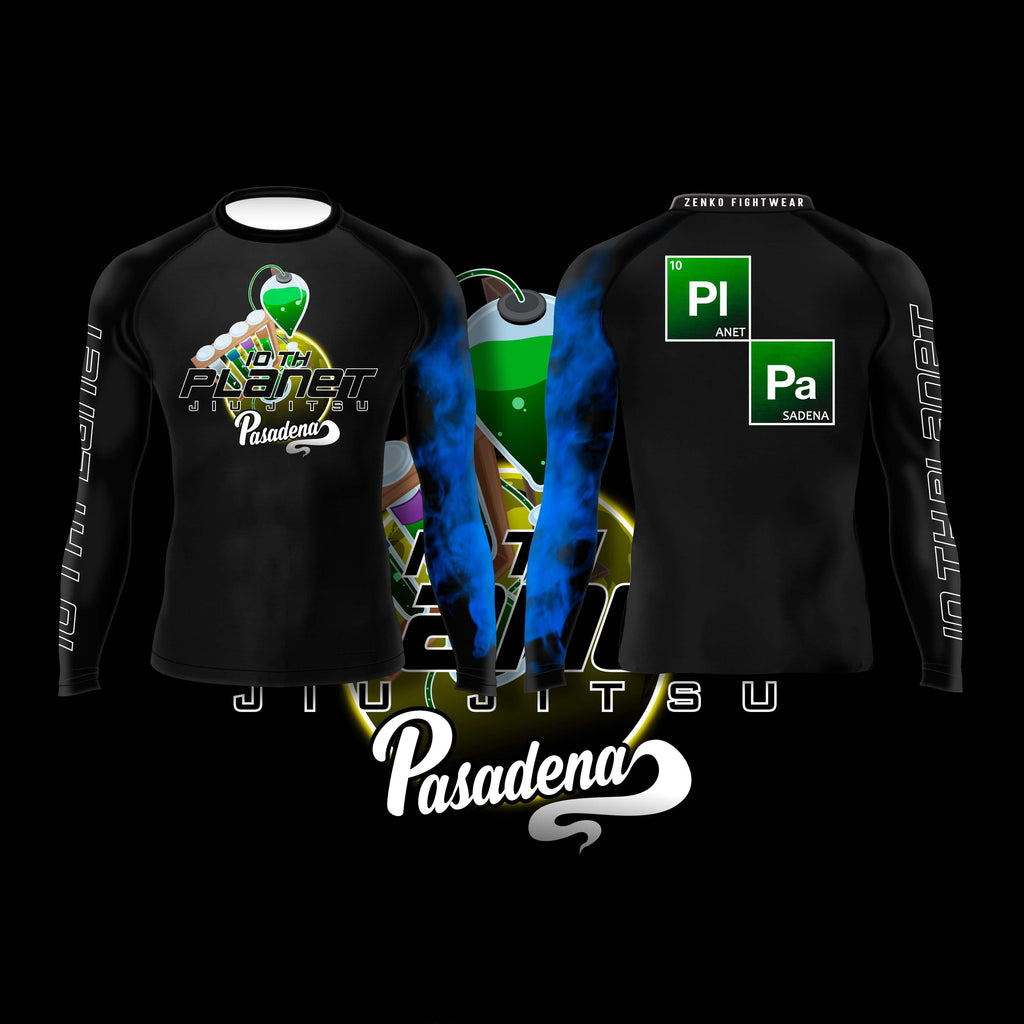 10th Planet Pasadena Ranked Rashguard Blue - Zenko Fightwear