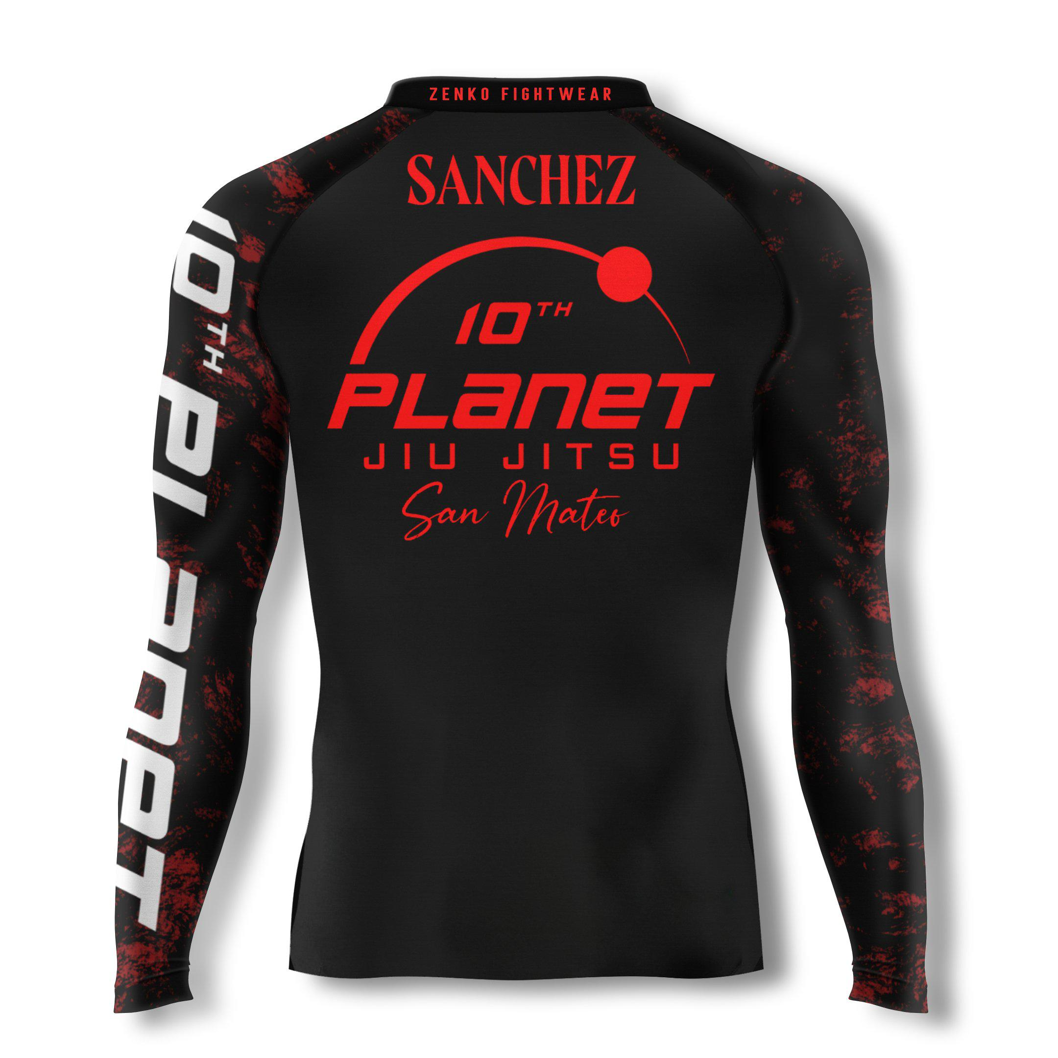 10th Planet San Mateo Afro Samurai Alan Sanchez Rashguard - Zenko Fightwear