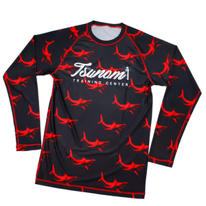 10th Planet Newport Tsunami Shark Rashguard - Zenko Fightwear
