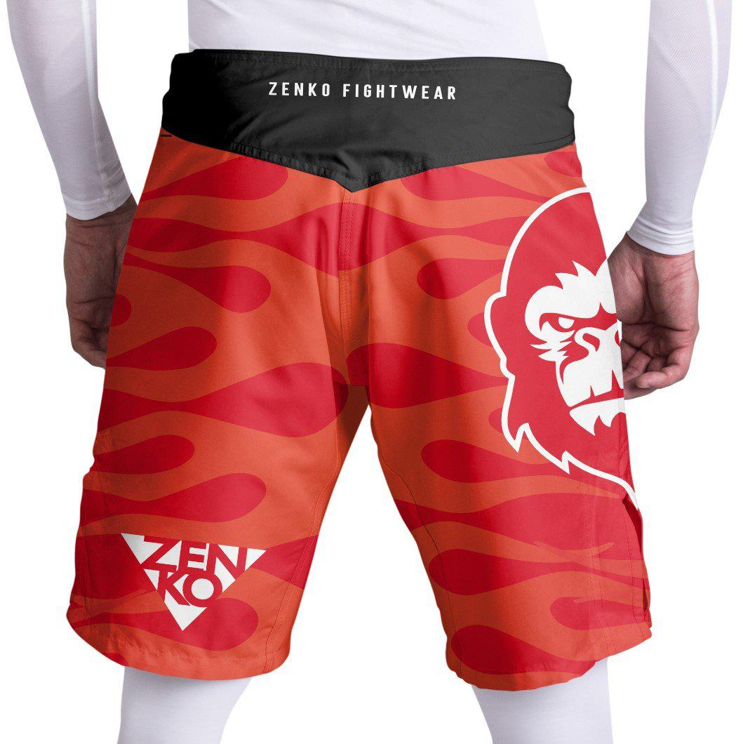 10th Planet San Mateo Big Red Fight Shorts - Zenko Fightwear
