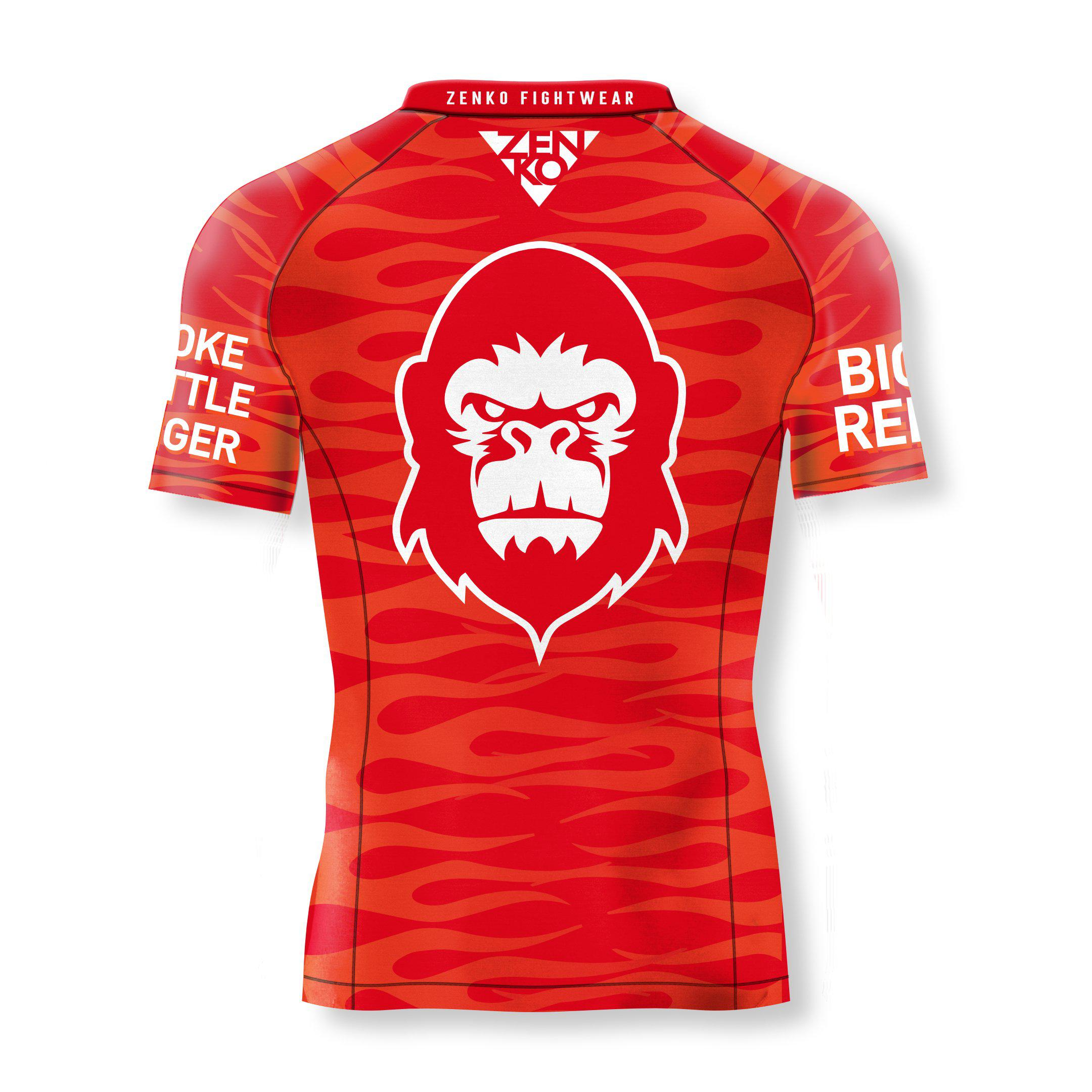 10th Planet San Mateo Big Red Short Sleeve Rashguard - Zenko Fightwear