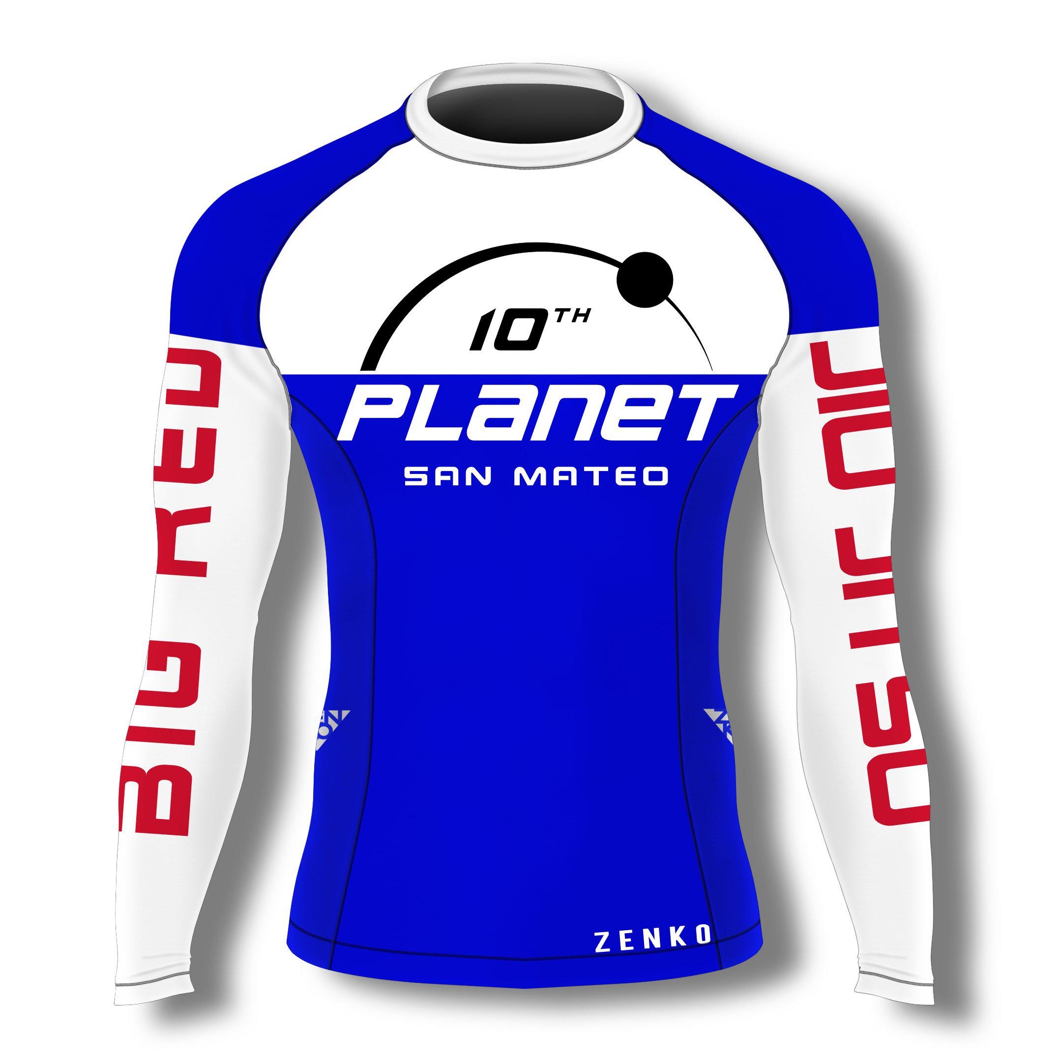 10th Planet San Mateo Rashguard - Blue - Zenko Fightwear