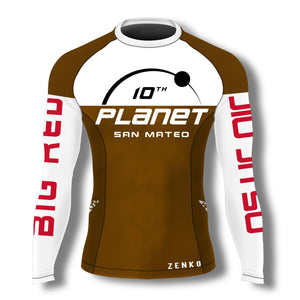 10th Planet San Mateo Rashguard - Brown - Zenko Fightwear